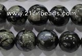 COP456 15.5 inches 14mm round natural grey opal gemstone beads