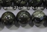 COP458 15.5 inches 18mm round natural grey opal gemstone beads