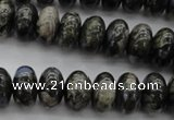 COP470 15.5 inches 10*14mm rondelle natural grey opal beads