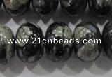 COP474 15.5 inches 15*20mm rondelle natural grey opal gemstone beads