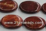 COP524 15.5 inches 22*30mm oval red opal gemstone beads wholesale