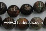 COP601 15.5 inches 16mm round green opal gemstone beads wholesale