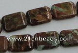 COP610 15.5 inches 13*18mm rectangle green opal gemstone beads