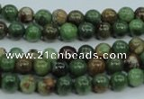 COP651 15.5 inches 6mm round green opal gemstone beads wholesale