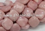 COP68 15.5 inches 12*12mm square natural pink opal gemstone beads