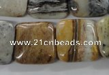 COP705 15.5 inches 20*20mm square wooden opal gemstone beads