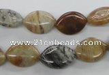 COP711 15.5 inches 10*15mm marquise wooden opal gemstone beads