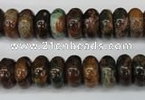 COP754 15.5 inches 6*12mm rondelle green opal gemstone beads