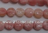 COP77 15.5 inches 10mm flat round natural pink opal gemstone beads