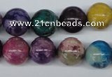 COP856 15.5 inches 14mm round dyed African opal gemstone beads