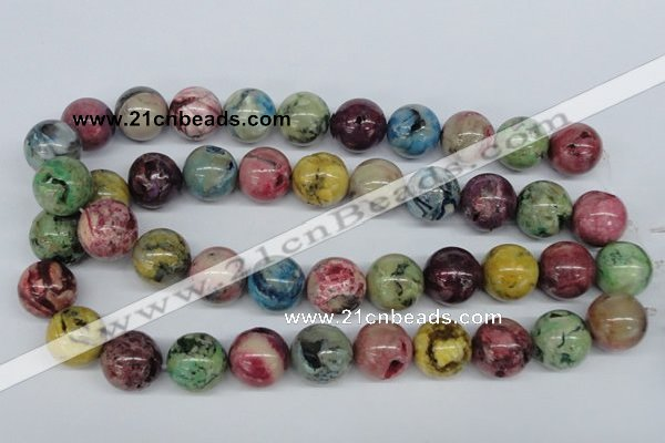 COP858 15.5 inches 18mm round dyed African opal gemstone beads