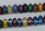 COP863 15.5 inches 5*10mm rondelle dyed African opal gemstone beads