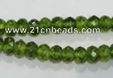COQ100 15.5 inches 5*8mm faceted rondelle dyed olive quartz beads