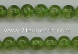 COQ203 15.5 inches 6mm - 7mm round natural olive quartz beads