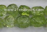 COQ23 16 inches 12*14mm nugget dyed olive quartz beads wholesale