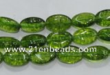 COQ35 15.5 inches 8*12mm oval dyed olive quartz beads wholesale