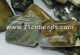 COS09 15.5 inches 18*25mm rectangle ocean stone beads wholesale