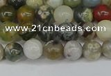 COS221 15.5 inches 6mm round ocean stone beads wholesale