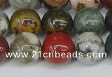 COS224 15.5 inches 12mm round ocean stone beads wholesale