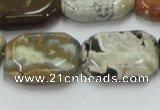 COS26 15.5 inches 18*25mm octagonal ocean stone beads wholesale