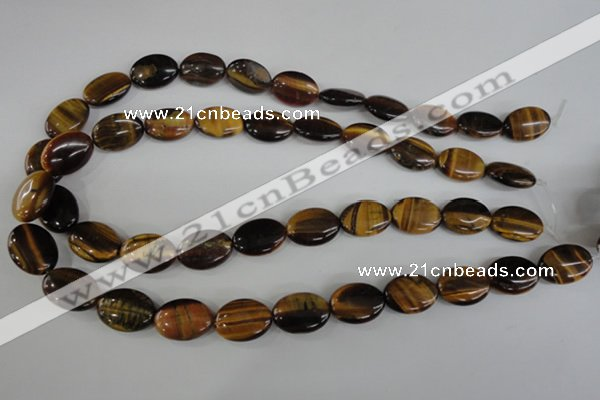 COV128 15.5 inches 13*18mm oval yellow tiger eye beads wholesale