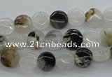 COZ17 15.5 inches 8mm flat round opal quartz beads wholesale