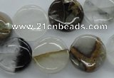 COZ19 15.5 inches 16mm flat round opal quartz beads wholesale