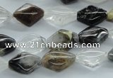 COZ25 15.5 inches 10*14mm diamond opal quartz beads wholesale