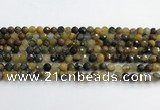 CPB1076 15.5 inches 6mm faceted round natural pietersite beads