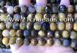 CPB1083 15.5 inches 10mm faceted round pietersite gemstone beads