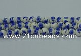 CPB545 15.5 inches 14mm round Painted porcelain beads
