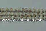 CPB575 15.5 inches 14mm round Painted porcelain beads