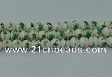 CPB585 15.5 inches 14mm round Painted porcelain beads