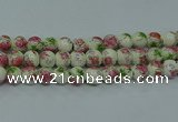 CPB651 15.5 inches 6mm round Painted porcelain beads