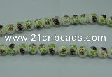 CPB662 15.5 inches 8mm round Painted porcelain beads