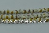 CPB752 15.5 inches 8mm round Painted porcelain beads