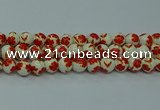 CPB761 15.5 inches 6mm round Painted porcelain beads