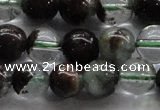 CPC03 15.5 inches 8mm round green phantom quartz beads wholesale