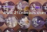 CPC611 15.5 inches 8mm round purple phantom quartz beads
