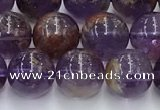CPC666 15.5 inches 8mm round purple phantom quartz beads wholesale