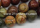 CPJ03 15.5 inches 16mm round picasso jasper beads wholesale