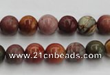 CPJ102 15.5 inches 8mm round picasso jasper gemstone beads wholesale