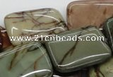 CPJ12 15.5 inches 22*30mm rectangle picasso jasper beads wholesale