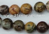 CPJ155 15.5 inches 12mm round picasso jasper gemstone beads
