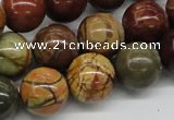 CPJ16 15.5 inches 8mm round picasso jasper beads wholesale