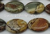 CPJ167 15.5 inches 18*25mm oval picasso jasper gemstone beads