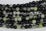 CPJ201 15.5 inches 4mm round green picasso jasper beads