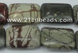 CPJ31 15.5 inches 18*25mm rectangle picasso jasper beads wholesale