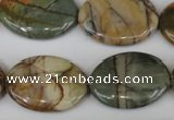 CPJ358 15.5 inches 22*30mm oval picasso jasper gemstone beads