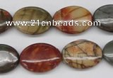 CPJ404 15 inches 15*20mm oval picasso jasper gemstone beads